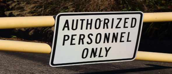 No one allowed except authorized one