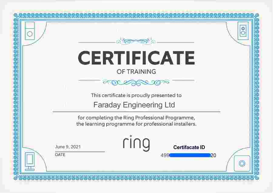 Ring Training Certificate
